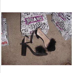 BRASH furry heels